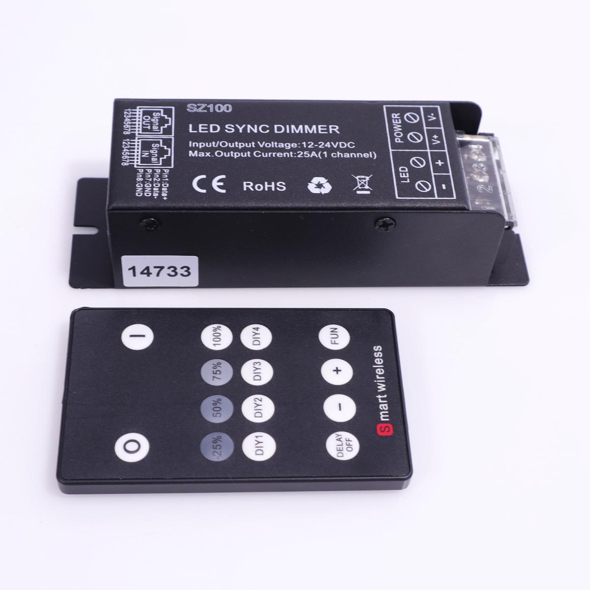 ŚCIEMNIACZ LED RF WIRELESS 300 W | 12-24 V
